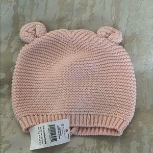 Gap pink baby girls hat